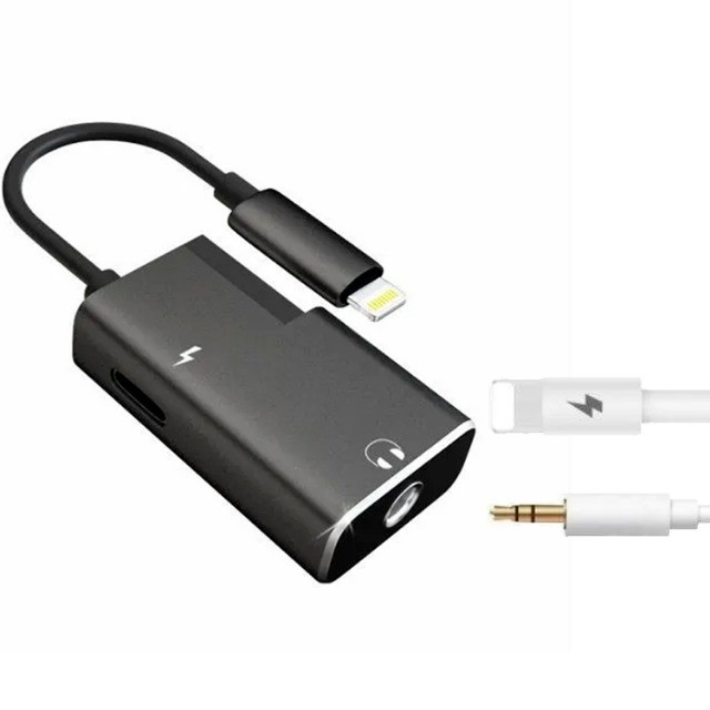 Adaptador iPhone Dual Lightning Carrega E Fone Duplo Metal - Foto 2