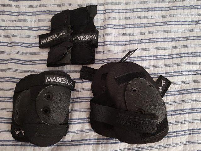Patins Quad 100 + Kit Proteção (joelho, cotovelo e punho) - Foto 3