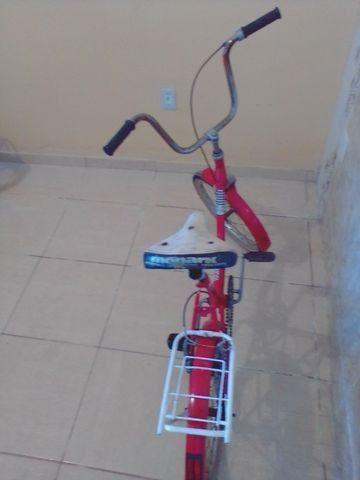 Bicicleta antiga monareta ole 70 vermelha - Foto 2