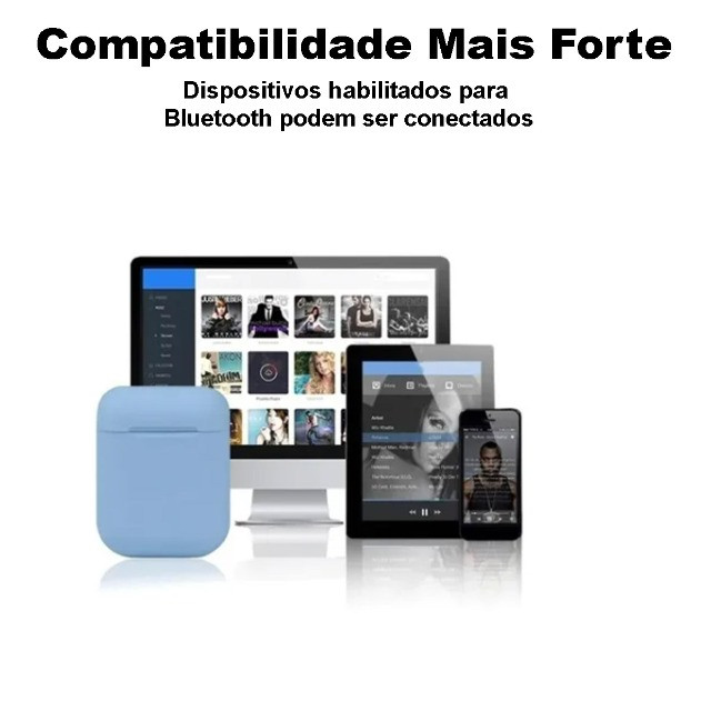 Fone de Ouvido Sem Fio Bluetooth i13s 5.0 Touch - Tws - Foto 2