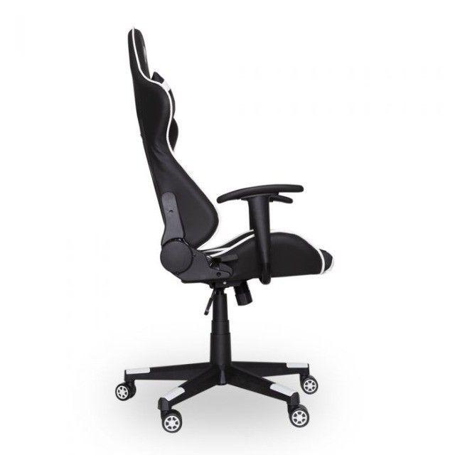 Cadeira Gamer PrimeX Preto/Branco Dazz - Loja Natan Abreu - Foto 4
