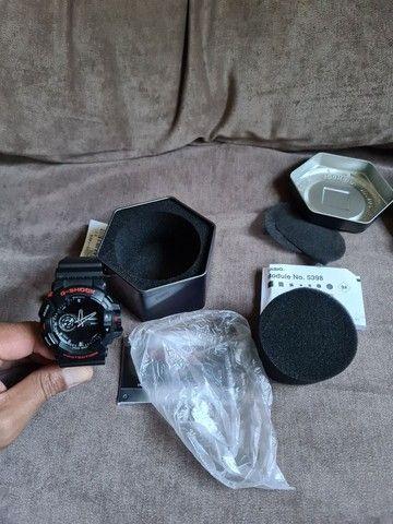 """""""Somente Venda"""" Relógio Casio G-shock Ga-400hr-1adr Ga 400hr Preto Vermelho - Foto 3"""