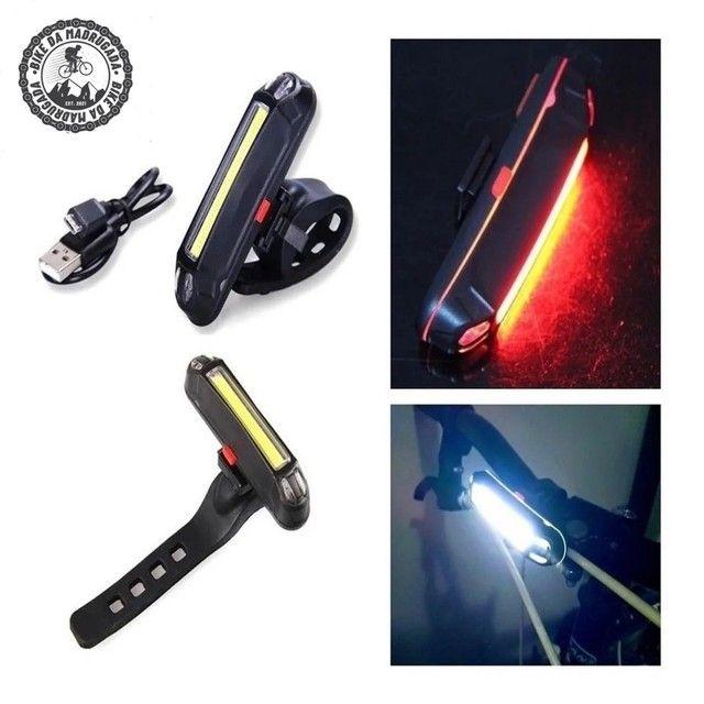 Lanterna traseira LED super forte BICOLOR AZUL/VERMELHO ou BRANCO/VERMELHO