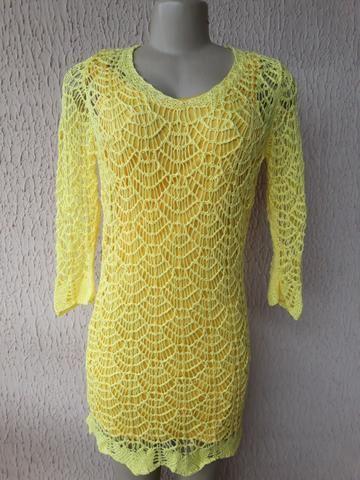 dd7e01076 Vestido amarelo em crochê - Roupas e calçados - Grande Colorado ...