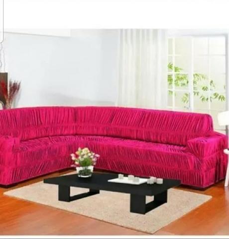 Capa de sofá de canto de varias cores