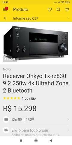 Vendo receiver novo na caixa