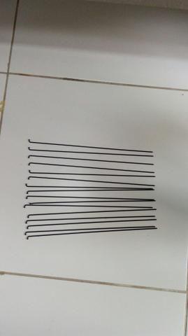 Raio aço preto mavic redondo 285 mm. sem niple. aceito oferta