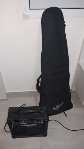 Guitarra les paul memphis tagima com cubo - Foto 4