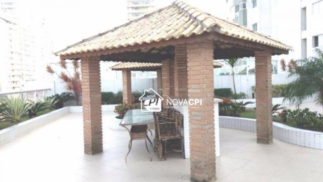 Apartamento para alugar, 123 m² por r$ 4.000,00/mês - aviação - praia grande/sp - Foto 13