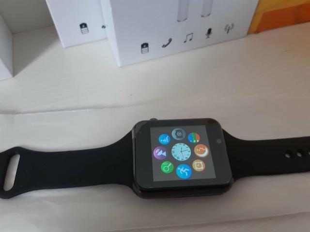 Relógio Smartwatch Com chip/sd Novo com Garantia - Foto 3