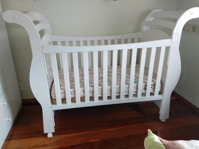Berço mini cama com colchão muito novo - Foto 5