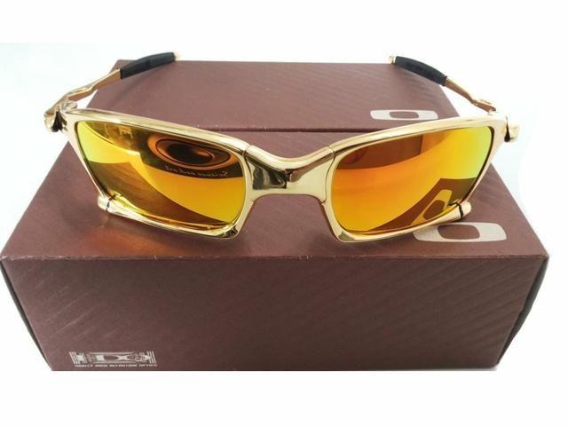 Óculos Oakley primeira linha dourado