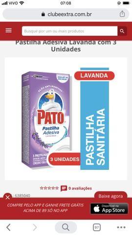 Desodorizador Sanitário Pastilha Adesiva Pato Lavanda Caixa Com 3 Unidades - Foto 2