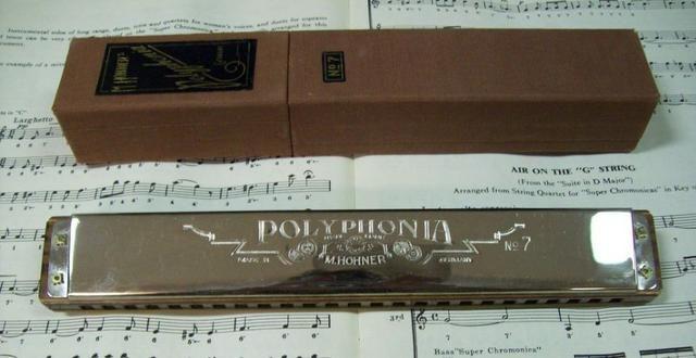 Gaita de boca Bass Hohner Polyphonia 7