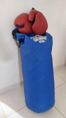 Saco de box, luvas e caneleiras - Foto 6