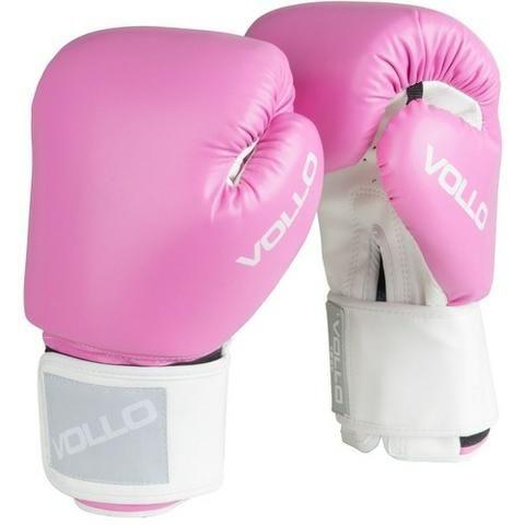 Luva box/ muay thai 14oz Rosa