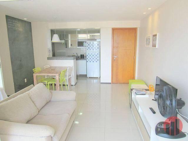 Apartamento todo mobiliado com 2 dormitórios para alugar, 57 m² por R$ 2.000/mês - Cidade  - Foto 15