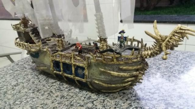 Navio Piratas Do Caribe - Versão Fantasma - Mega Bloks - Foto 5