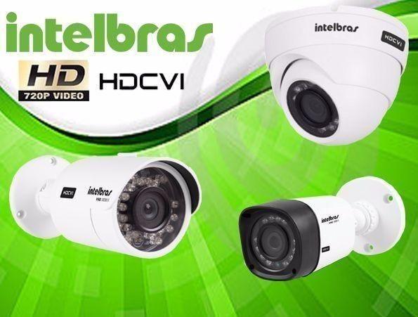KIT Instalado Intelbras 4 Câmeras HD- Acesso p  Celular + HD 500GB 1500 abbc98ca01b92