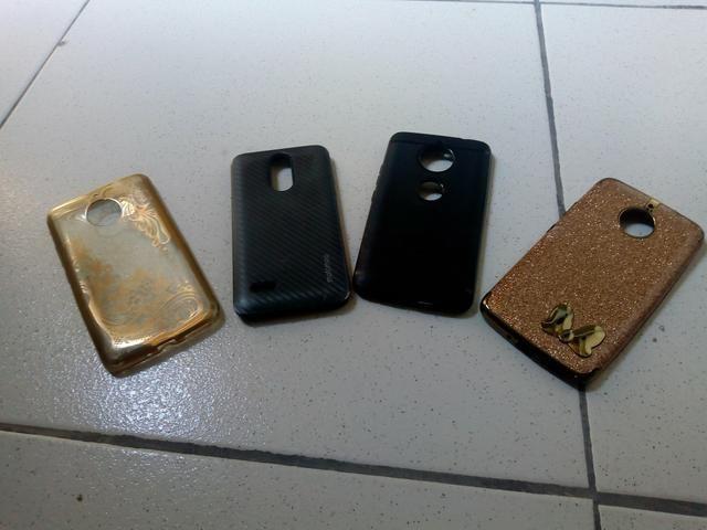 Capinhas de celular moto e 4 e Lg k 4 novo antimpacto