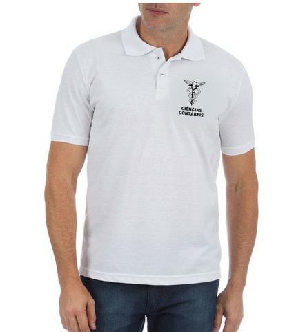 Camisa Polo Universitaria Ciencias Contabeis - Roupas e calçados ... 05e5eccace8fd