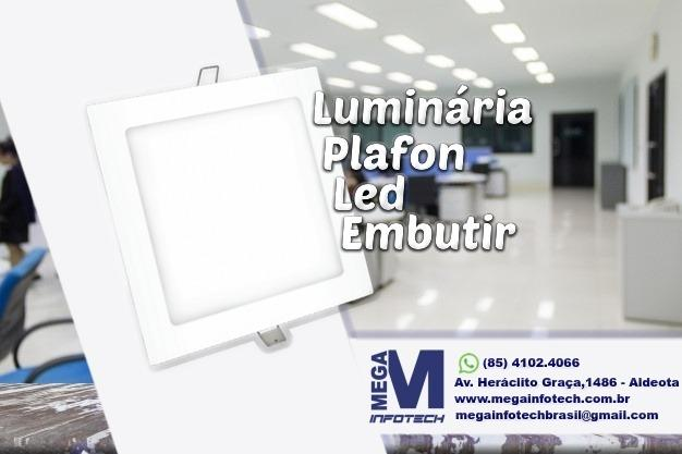 Luminária Plafon LED Embutir - Promoção!! Mega Distribuidora