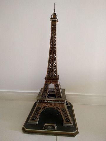 Quebra Cabeça 3D Torre Eiffel - Cubic Fun - Foto 4