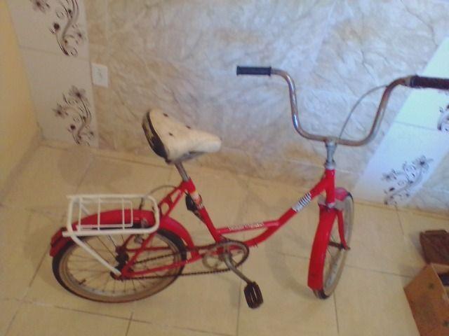 Bicicleta antiga monareta ole 70 vermelha - Foto 3