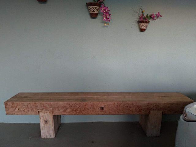 Vendo banco de madeira camarú - Foto 4