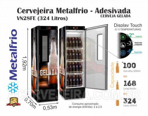 Cervejeira Slim 4 Caixas Vn28 Metalfrio
