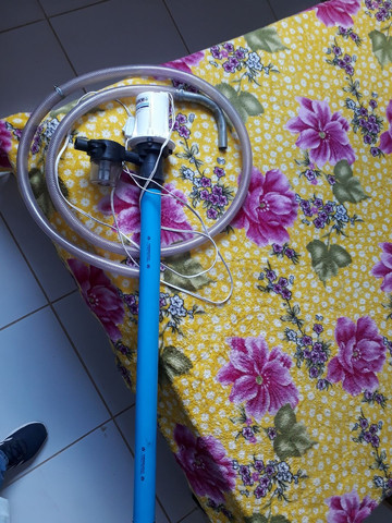 Bomba de transferi óleo diesel 12v, nova usada apenas  uma vez  - Foto 3