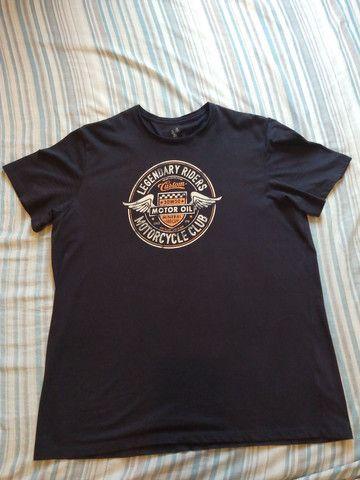 Camiseta. Tam. GG. Preta. 100% Algodão