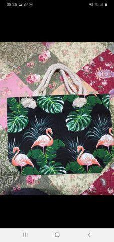Vendo bolsas Praia com zíper forrada  - Foto 2