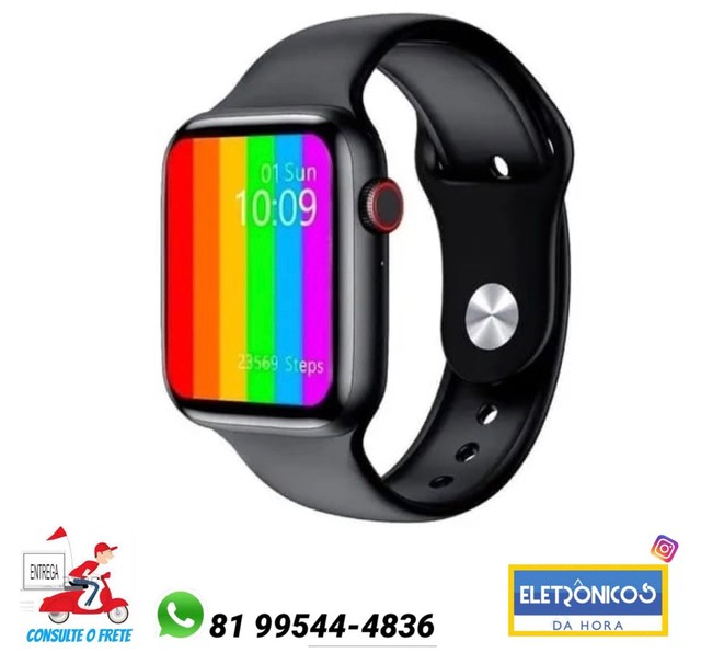 Smart Watch Iwo 12 6ªgeração 44mm Compativel C/ Ios/android só zap