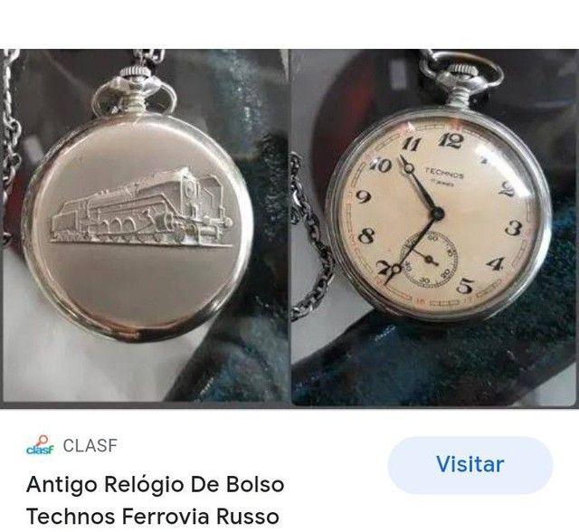 RELÍQUIA, vendo relógio de bolso technos - Foto 3