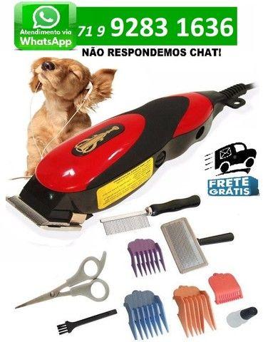 Kit Maquina Tosa Profissional Cães Gatos Qirui