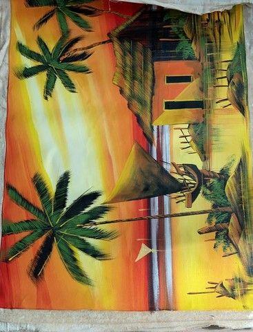 Telas pintadas à mão  - Foto 3