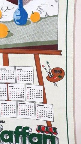 Pano de prato Zaffari calendário  1990 Novo  - Foto 2