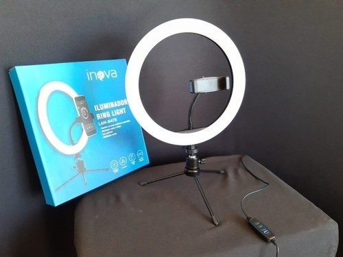 Iluminador Ring Light - 25 cm - c/ Tripe e Suporte - LAM-8478 - Inova  - Foto 3