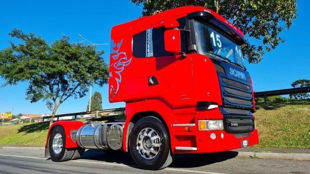 Scania R 440 4x2 Toco Automático Completo 2015 Rodas de Alumínio Fino Trato - Foto 2