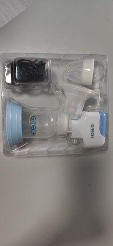 bomba tira leite elétrica + potinhos armazenamento - Foto 3