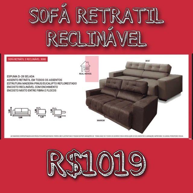 Sofá retrátil reclinável marrom sofá retrátil reclinável