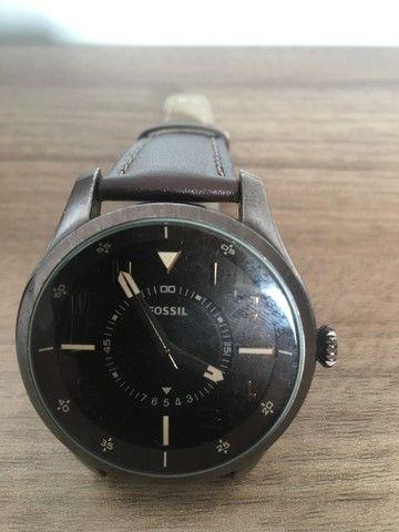 Relógio Fs4459 Men Watches: Brown Leather Strap - Fossil