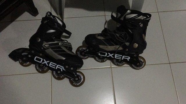 NO PRECINHO!! Lindo par de patins da Oxer (42) - Foto 6