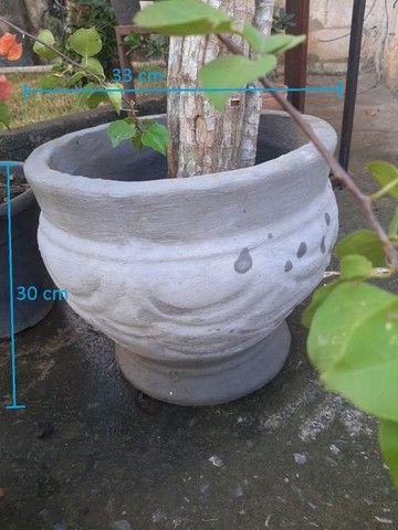 Vasos variados de cimento para plantas - Foto 2