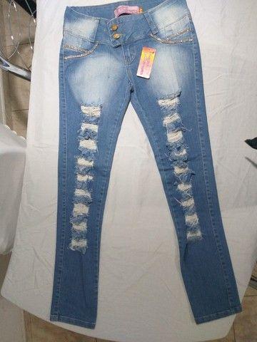 calça feminina jeans  44 novo