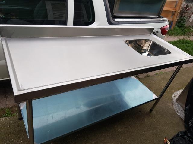 Mesas e Pias de Inox para Uso Comercial - Foto 5