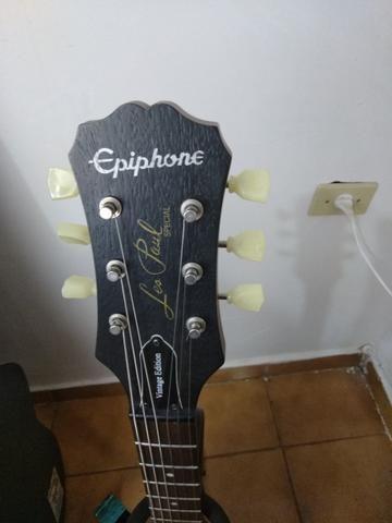 Guitarra Epiphone Walnut Vintage Ve Blindada, tarraxas klusson +upgrades - Foto 5
