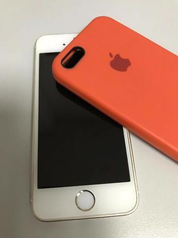 Iphone 5s 16gb Dourado Gold Original Apple 4g Desbl Usado