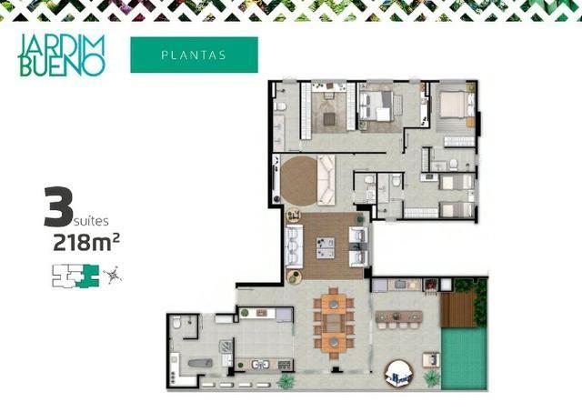 Ultima Penthouse Disponível - 218m² - Próximo do Goiânia Shopping e Parque Vaca Brava - Foto 3